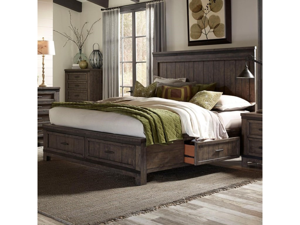 Liberty Furniture Thornwood HillsKing Two Sided Storage Bed