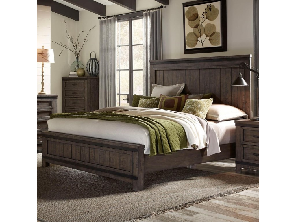 Liberty Furniture Thornwood HillsKing Panel Bed