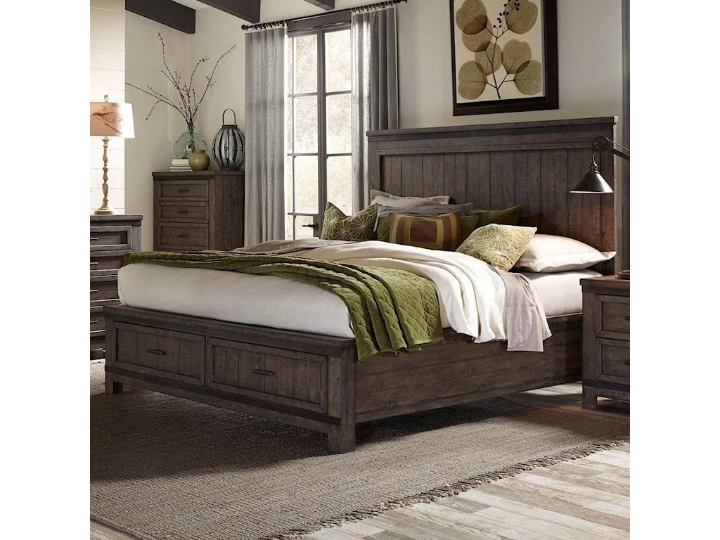 Liberty Furniture Thornwood HillsKing Storage Bed