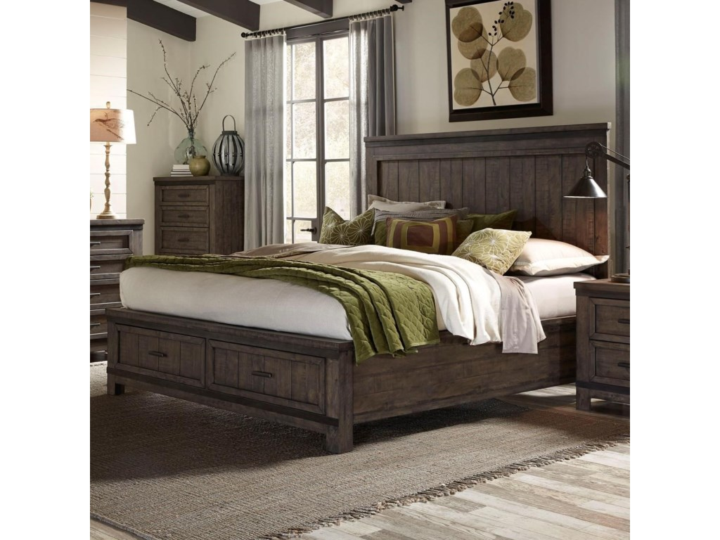Liberty Furniture Thornwood HillsQueen Storage Bed