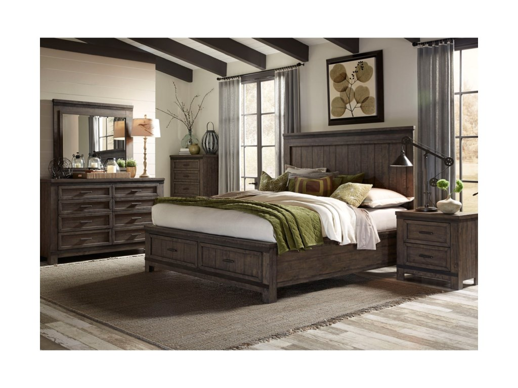 Liberty Furniture Thornwood HillsQueen Bedroom Group
