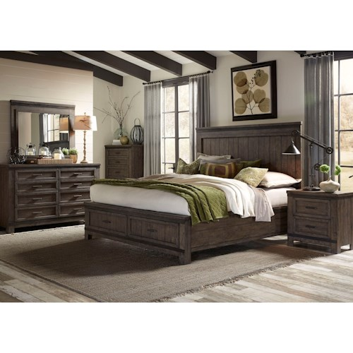 Liberty Furniture Thornwood Hills Queen Bedroom Group