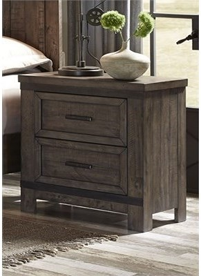 Liberty Furniture Thornwood Hills Night Stand with Two Dovetail Drawers