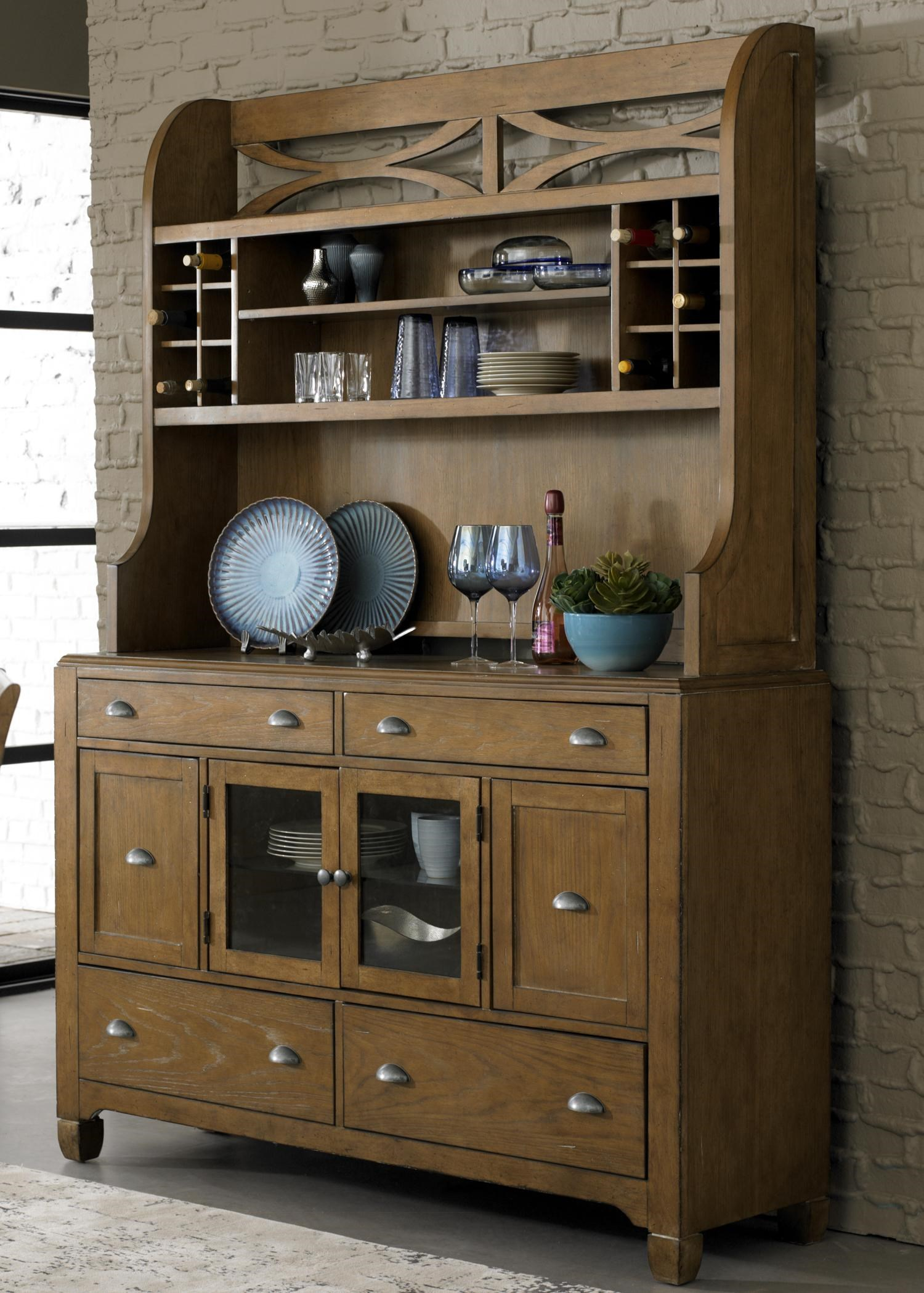 Liberty Furniture Town U0026 Country Dining Hutch U0026 6 Drawer Buffet With Unique  Curved X