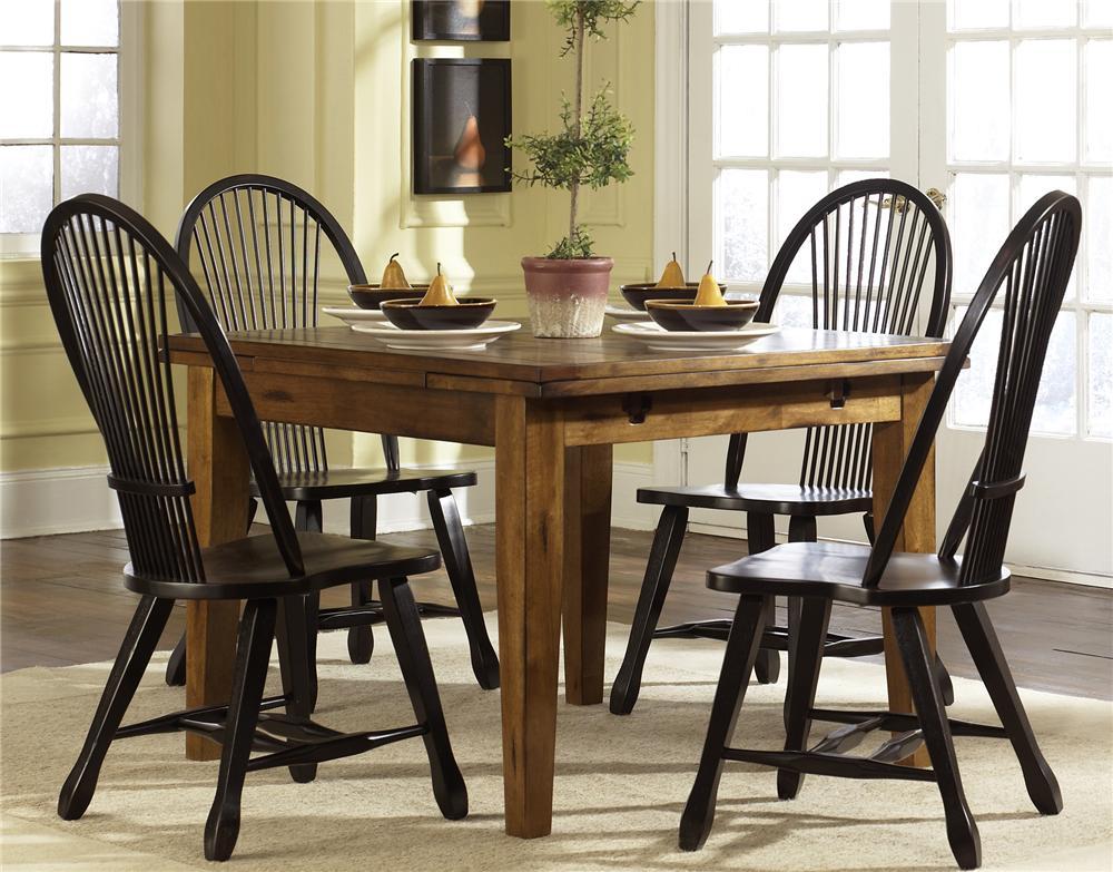 Retractable Leg Table & Shelf Back Side Chair Set