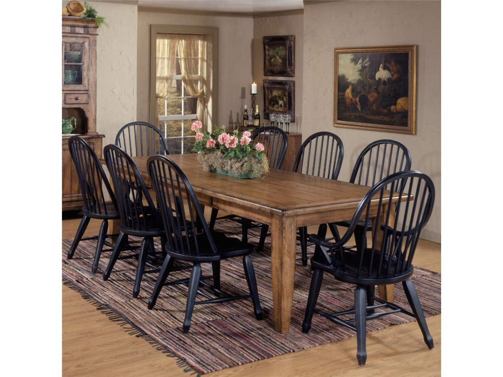 Liberty Furniture Treasures 9 Piece Leg Table Bowback Chair Set