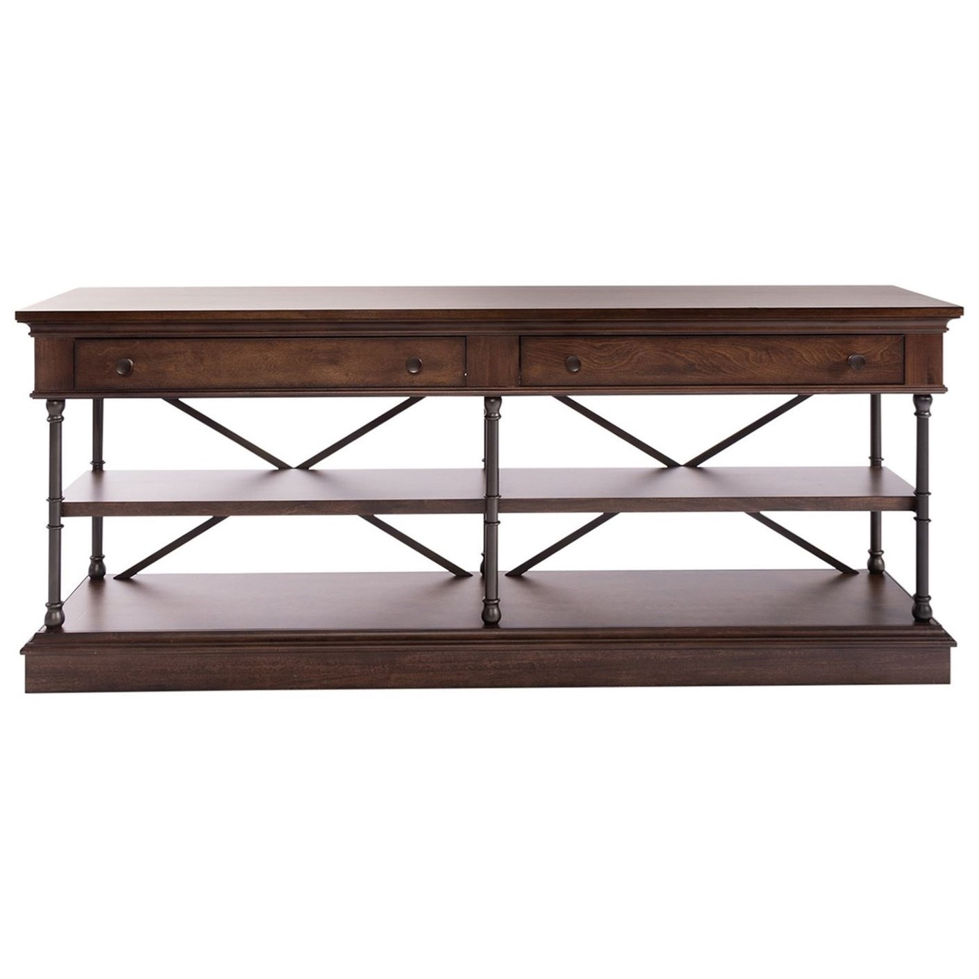 Metal/Wood 72 Inch TV Console