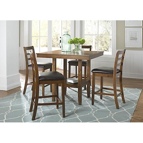 Liberty Furniture Tucson Dining Ii 22 Cd 5gts 5 Piece