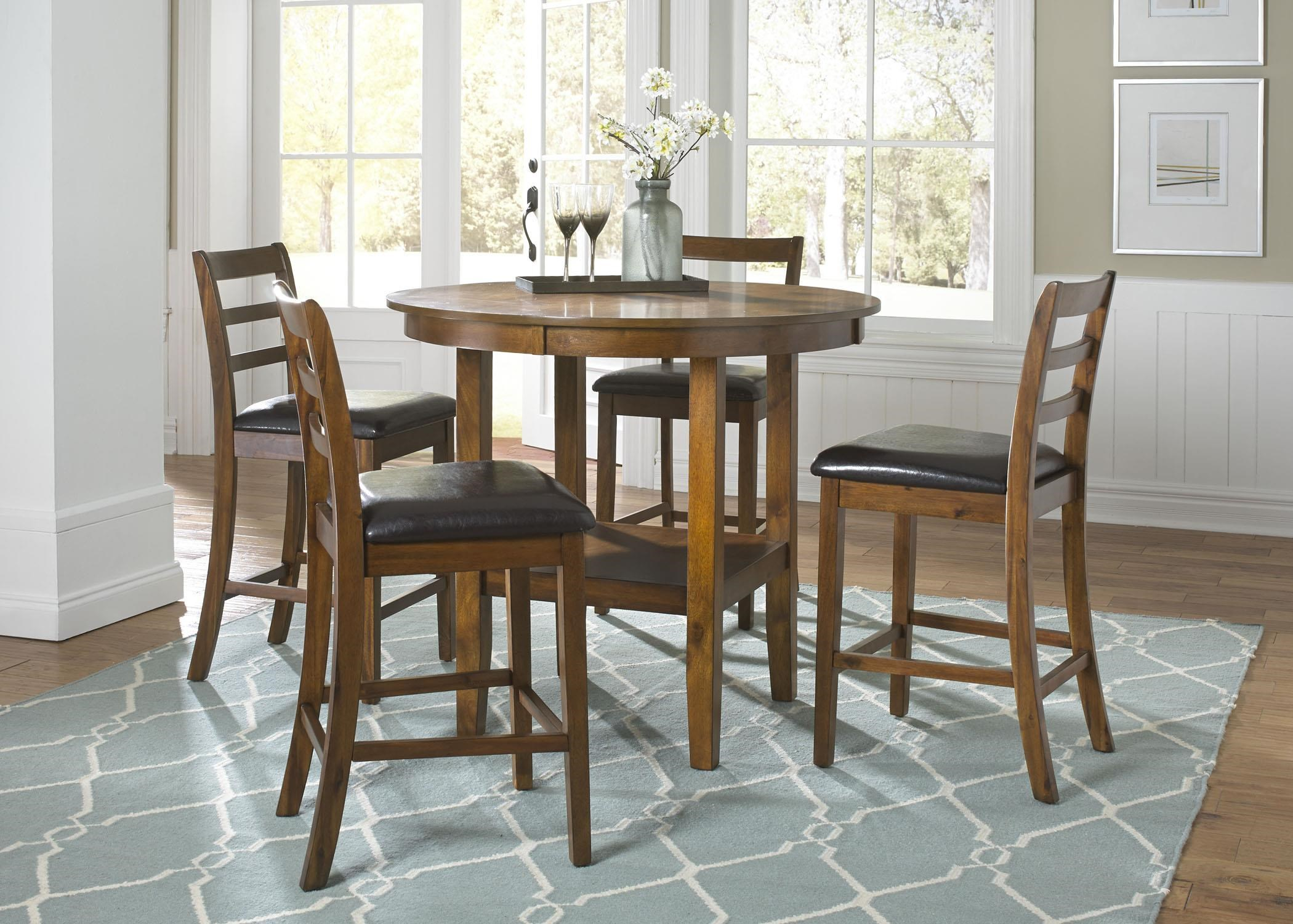 Liberty Furniture Tucson Dining II 5 Piece Pub Table Set