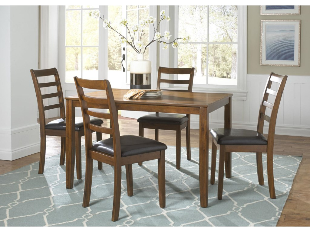 Tucson Dining II 5 Piece Rectangular Leg Table Set By Liberty Furniture