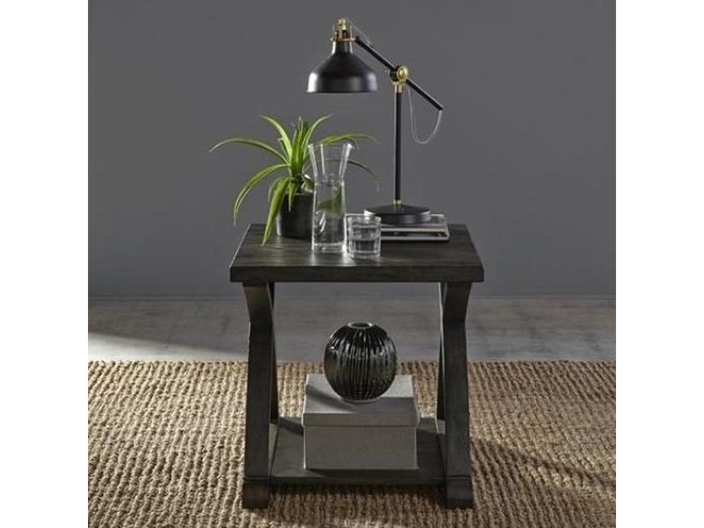 Liberty Furniture Twin OaksEnd Table with Bottom Shelf