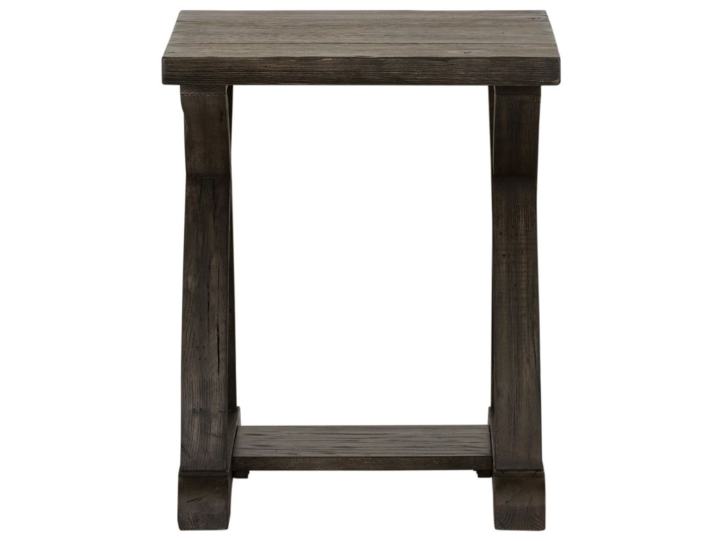 Liberty Furniture Twin OaksChairside Table with Bottom Shelf