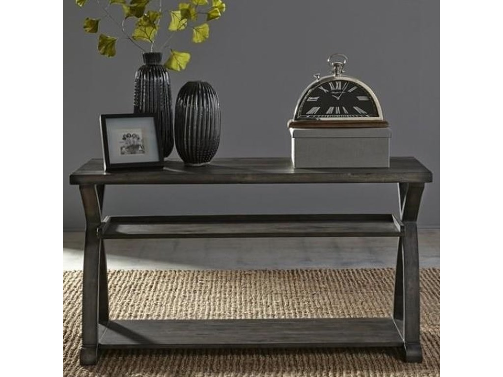 Liberty Furniture Twin OaksSofa Table with Two Shelves