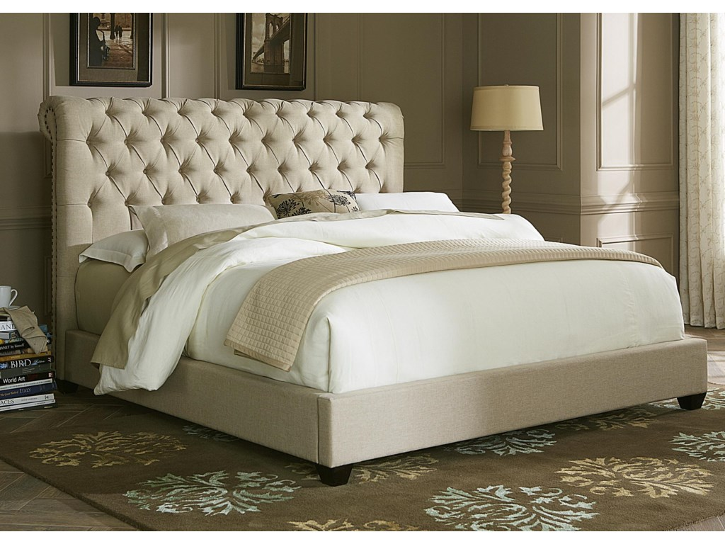Liberty Furniture Upholstered Bedsqueen Sleigh Bed