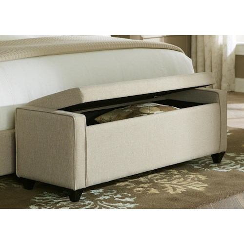 Liberty Furniture Upholstered Beds Lift Top Bed Bench