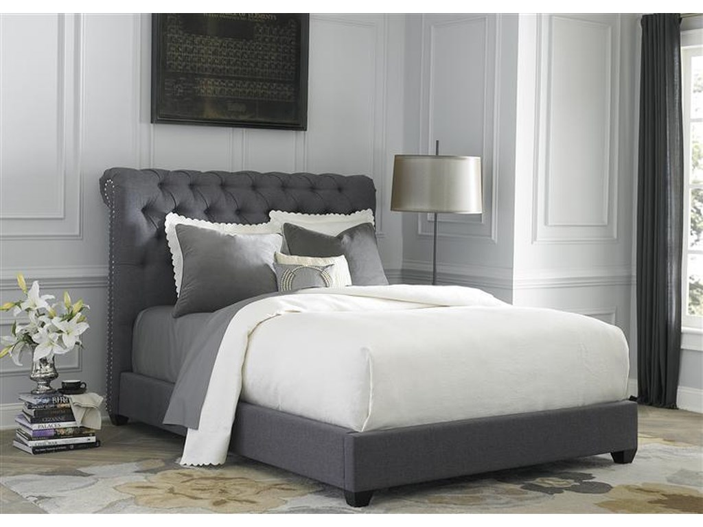 Liberty Furniture Upholstered BedsKing Sleigh Bed