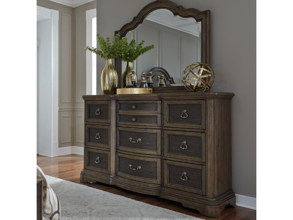Liberty Furniture Valley SpringsDresser & Mirror