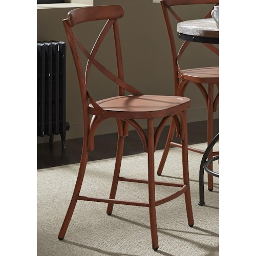 Liberty Furniture Vintage Dining Series X-Back Counter Chair