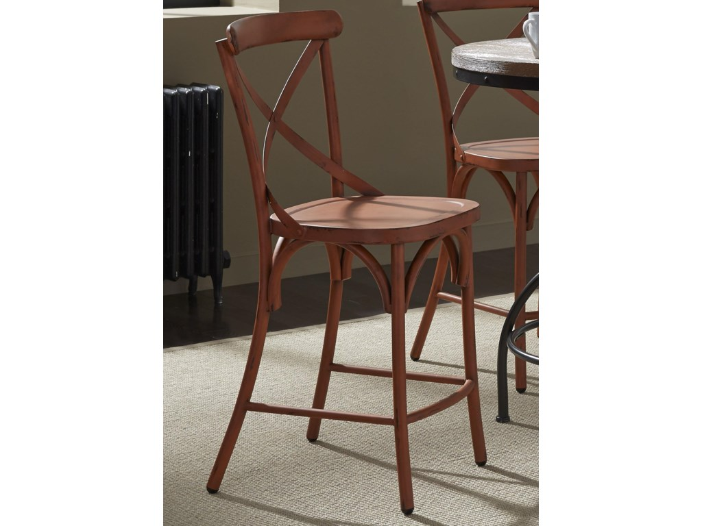 Liberty Furniture Vintage Dining SeriesX-Back Counter Chair