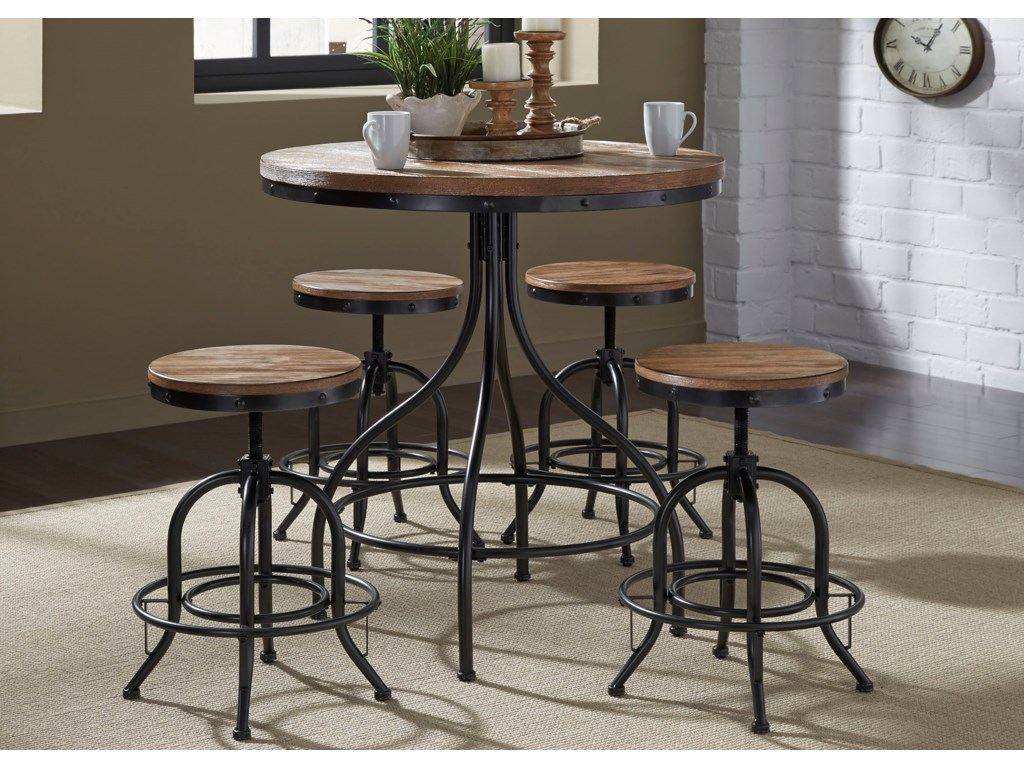 Liberty Furniture Vintage Dining Series5-Piece Pub Table Set