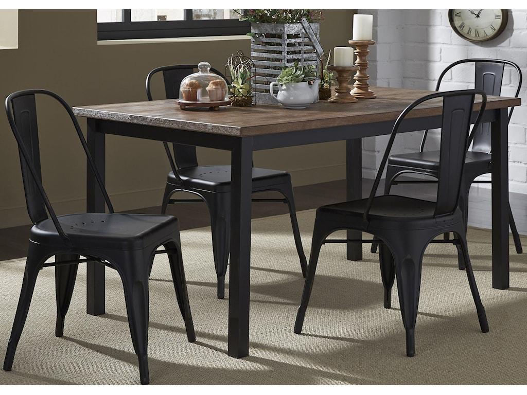 Liberty Furniture Vintage Dining Series5-Piece Gathering Table Set