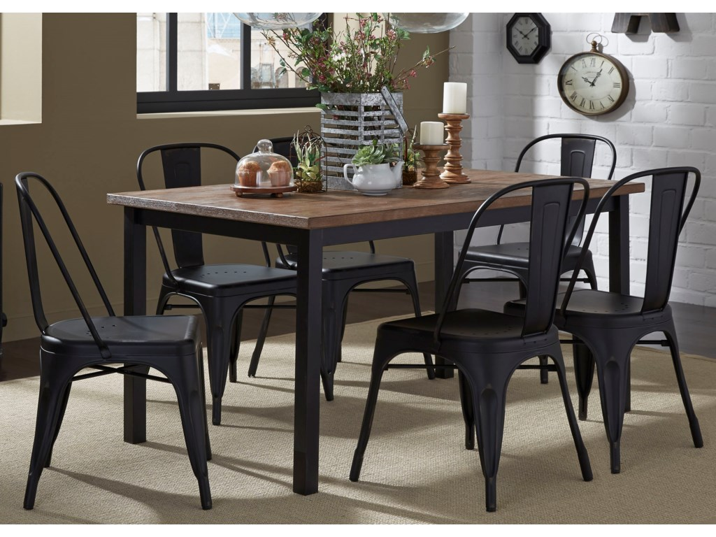 Liberty Furniture Vintage Dining Series7-Piece Table and Chair Set