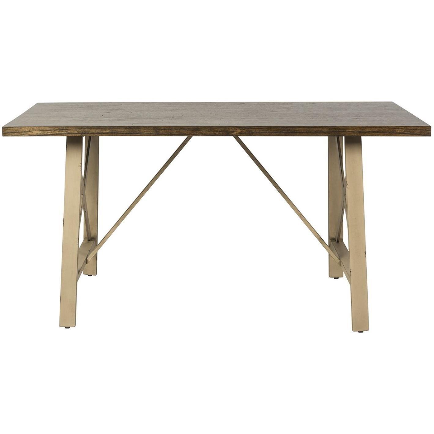 Rectangular Leg Table with X Base End Panels