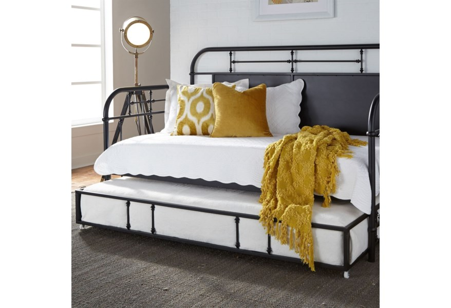 Twin Metal Trundle Daybed