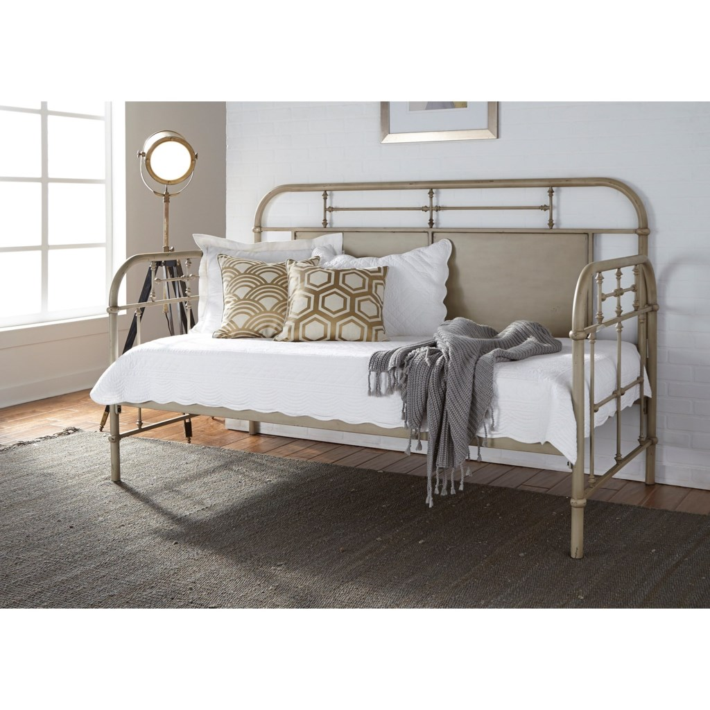 Vintage Daybed liberty furniture vintage series twin metal daybed with turned