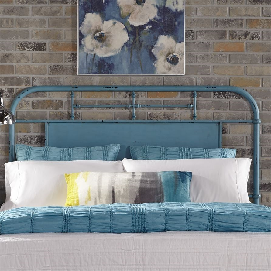 Queen Metal Headboard with Turned Spindles