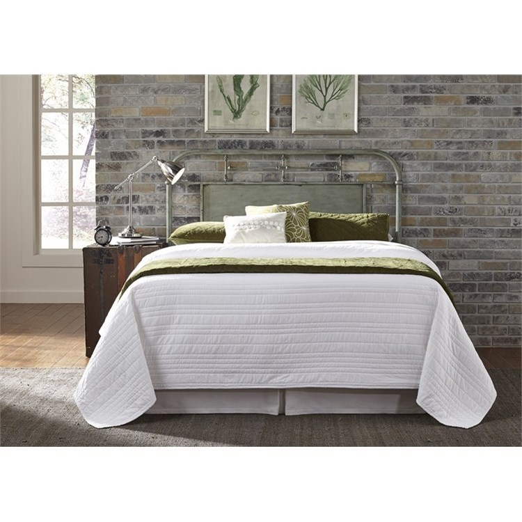 Liberty Furniture Vintage Series Queen Metal Headboard With Turned Spindles Howell Furniture Headboards
