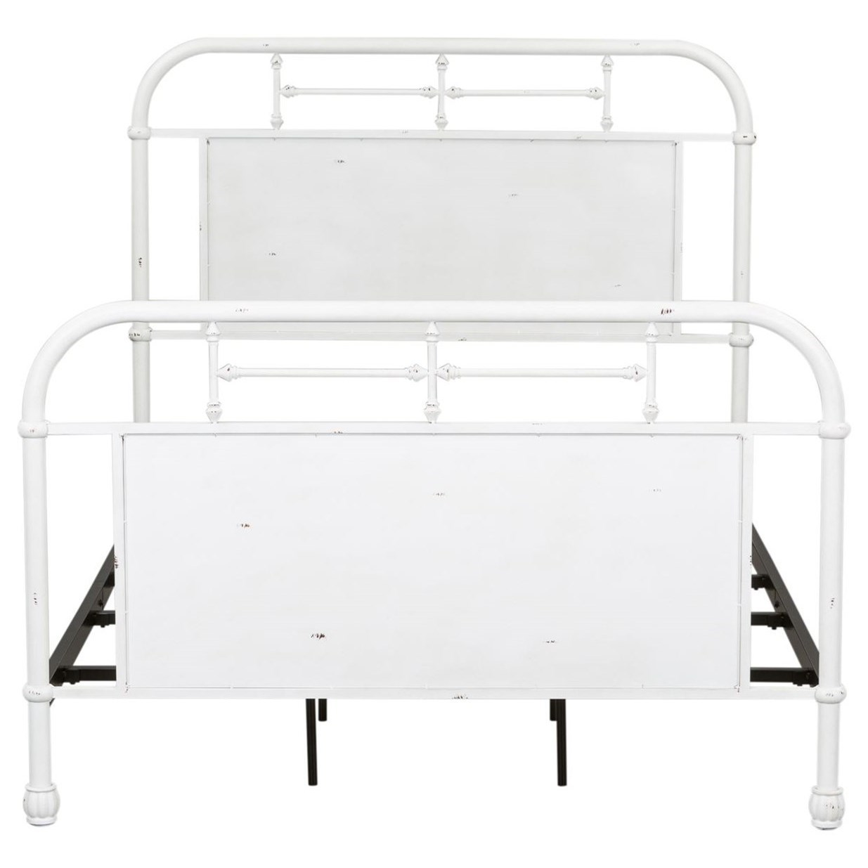 King Metal Headboard with Turned Spindles
