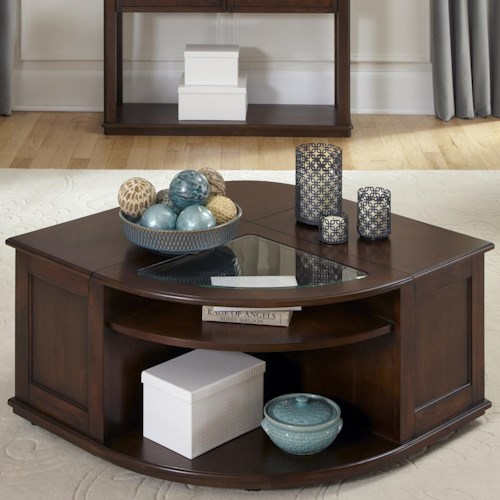 Liberty Furniture Wallace Casual Wedge Tail Table