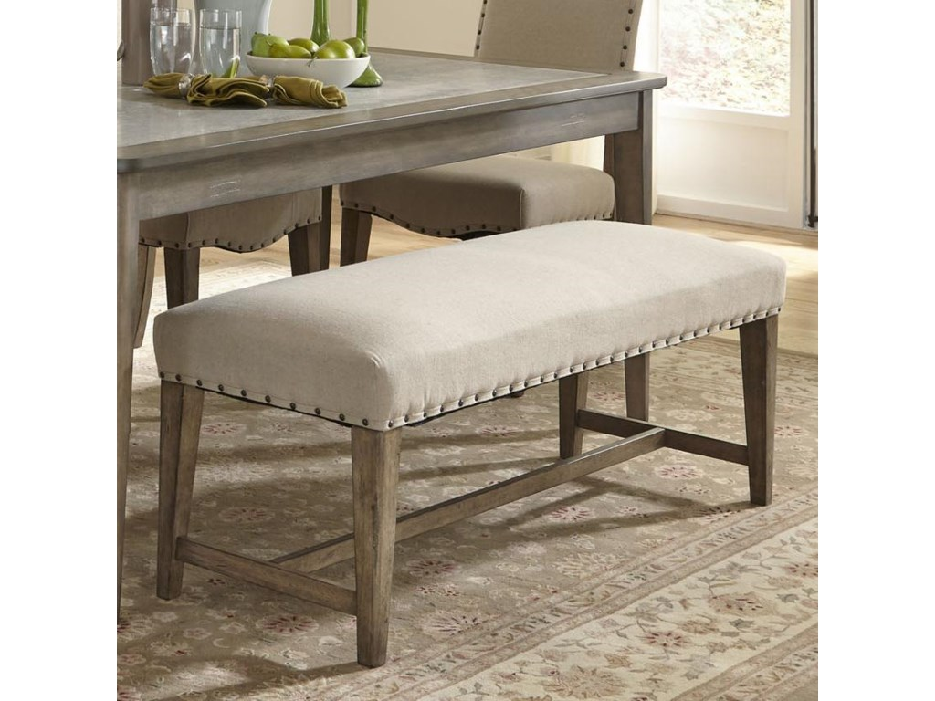 Liberty Furniture Weatherford Rustic Casual Upholstered Bench with ...