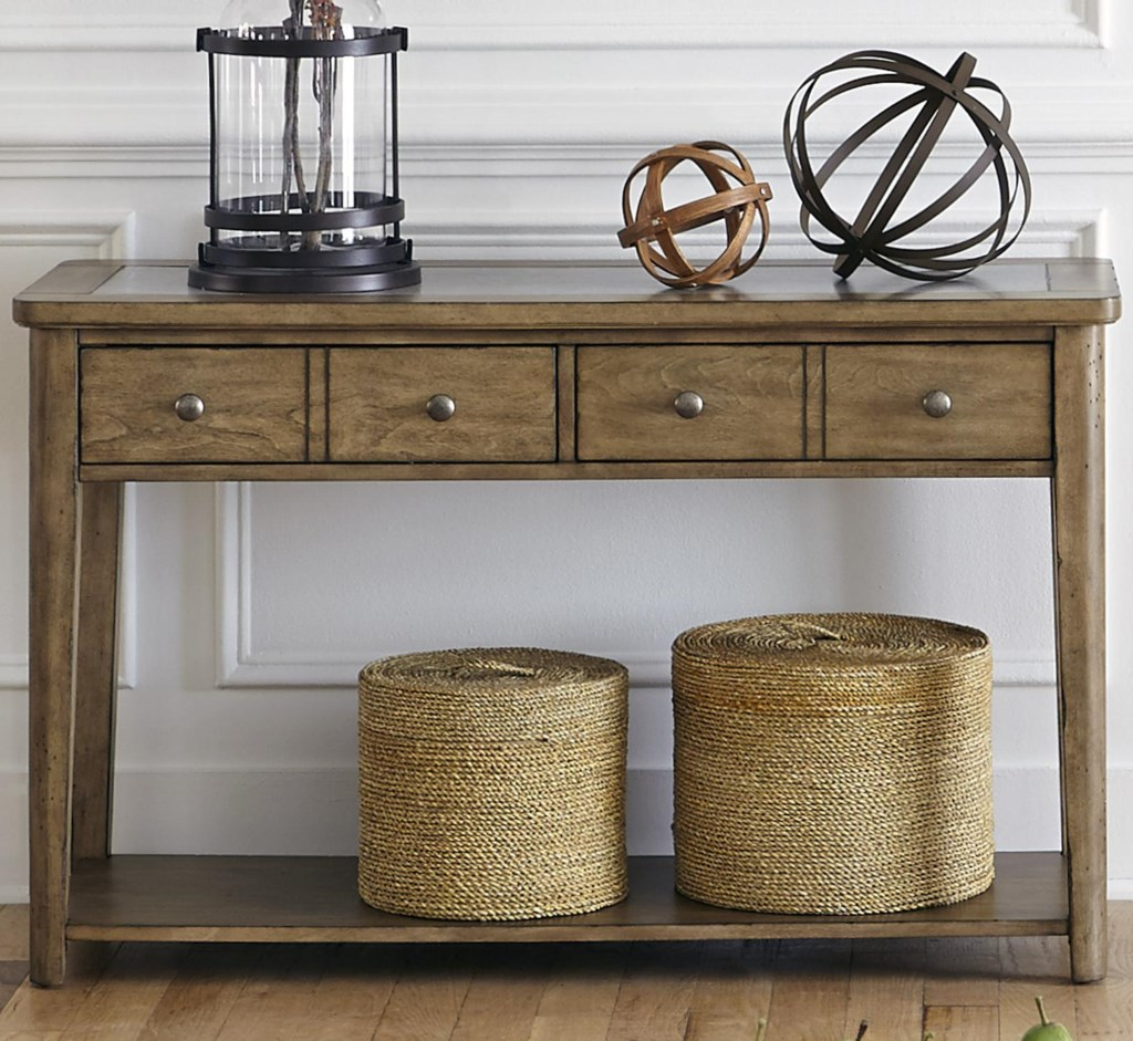 Liberty Furniture Weatherford 645 Ot1030 Sofa Table With 2 Drawers  ~ Sofa Tables With Drawers