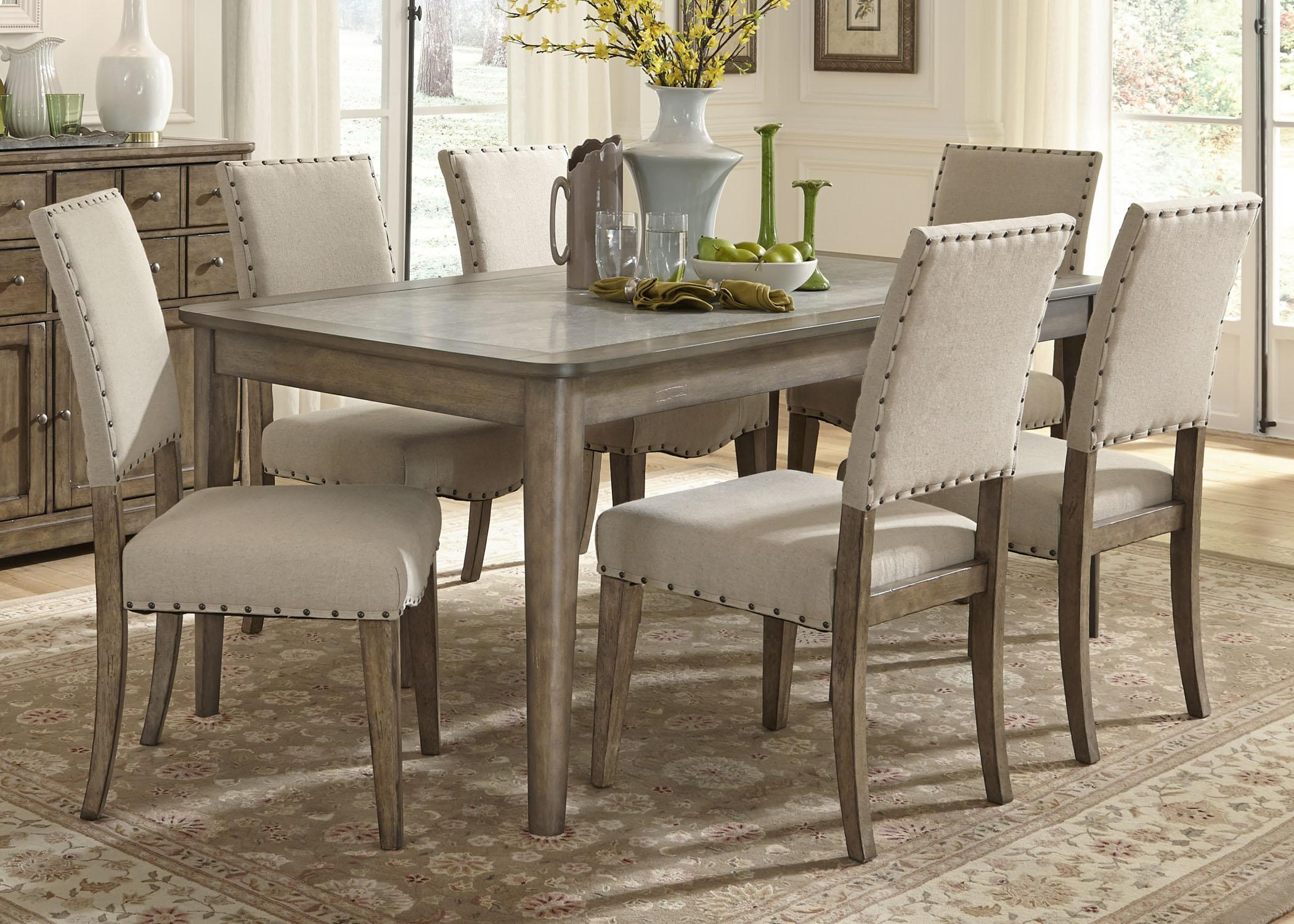 Amazing Liberty Furniture Weatherford Casual Rustic 7 Piece Dining Table And Chairs  Set Part 31