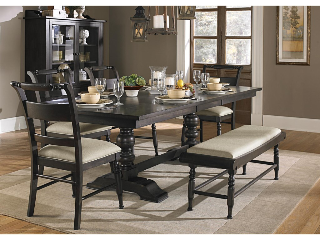 Liberty Furniture Whitney6 Piece Trestle Table Set