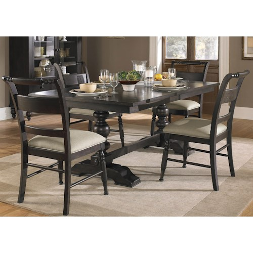 Liberty Furniture Whitney 5 Piece Trestle Table Set Prime Brothers Furniture Dining 5 Piece