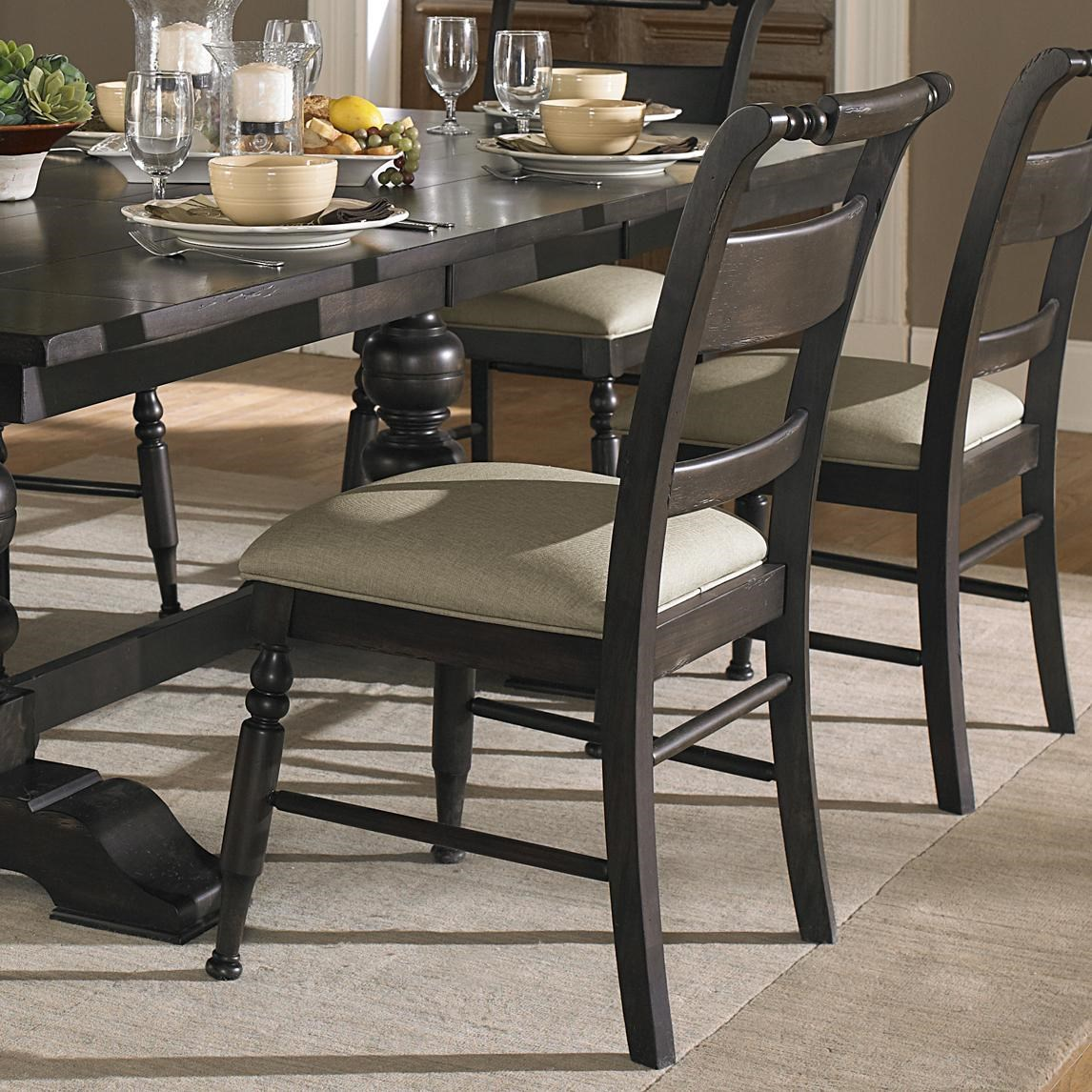 Trestle Dining Table Set Part - 40: Liberty Furniture Whitney 7 Piece Trestle Dining Room Table Set