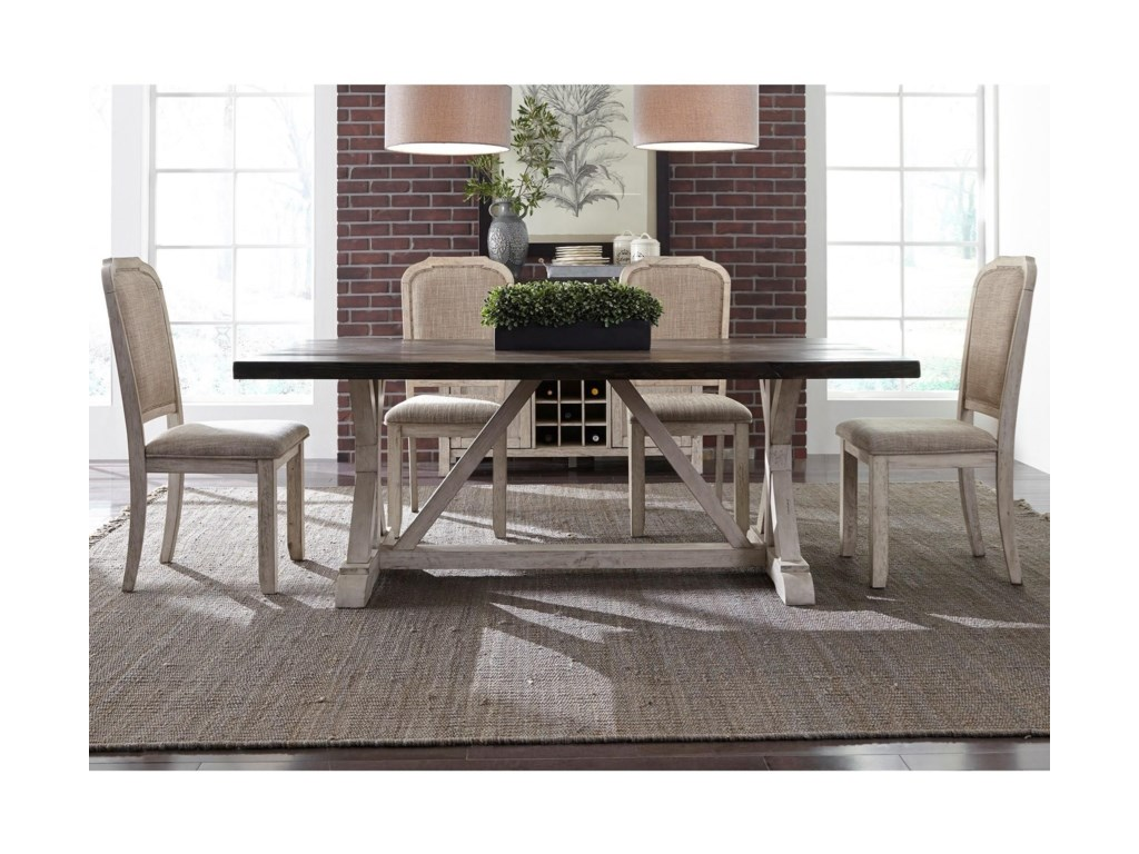 Liberty Furniture Willowrun5-Piece Trestle Table Set