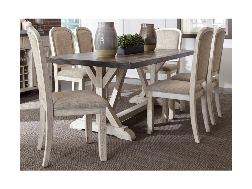 Liberty Furniture Willowrun 619-DR-7TRS Relaxed Vintage 7-Piece ...