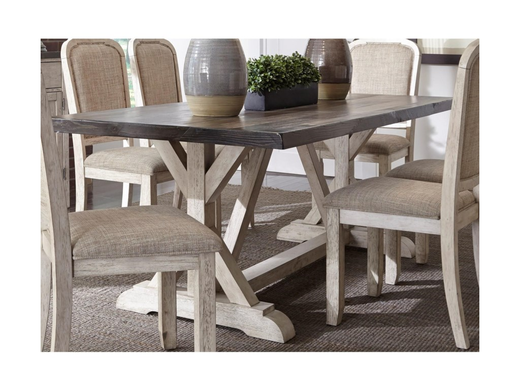 Liberty Furniture WillowrunTrestle Table