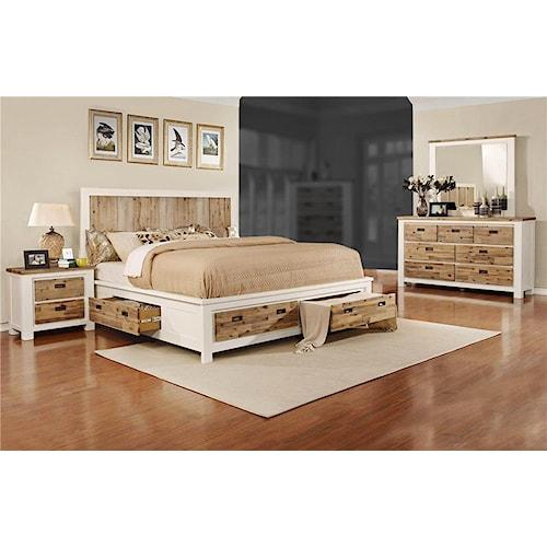 Lifestyle Tommy 4 Piece Queen Storage Bedroom Set