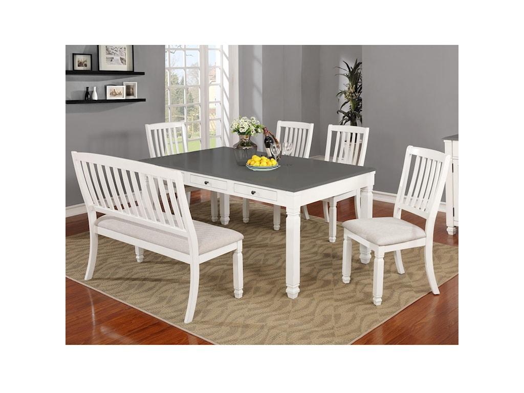 Lifestyle 1735P6-Piece Table Set