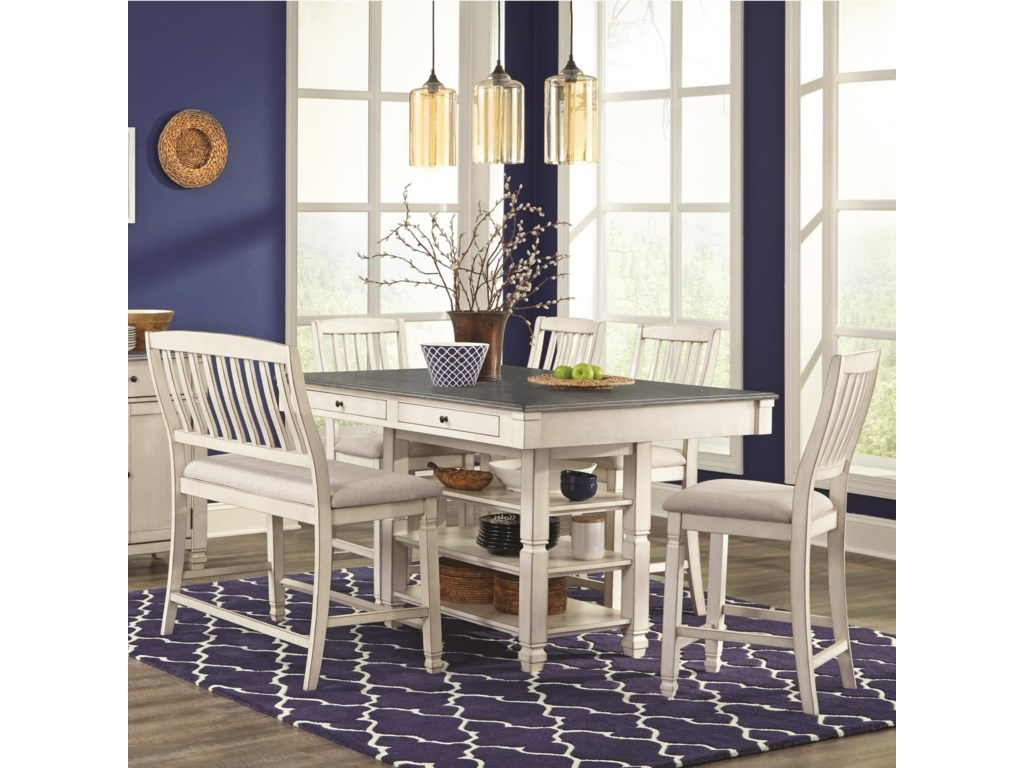 Lifestyle 1735P6-Piece Pub Table Set