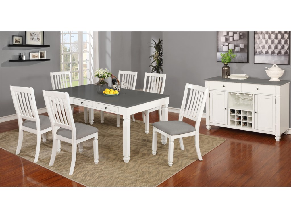 Lifestyle 1735P8 Piece Dining Room Group