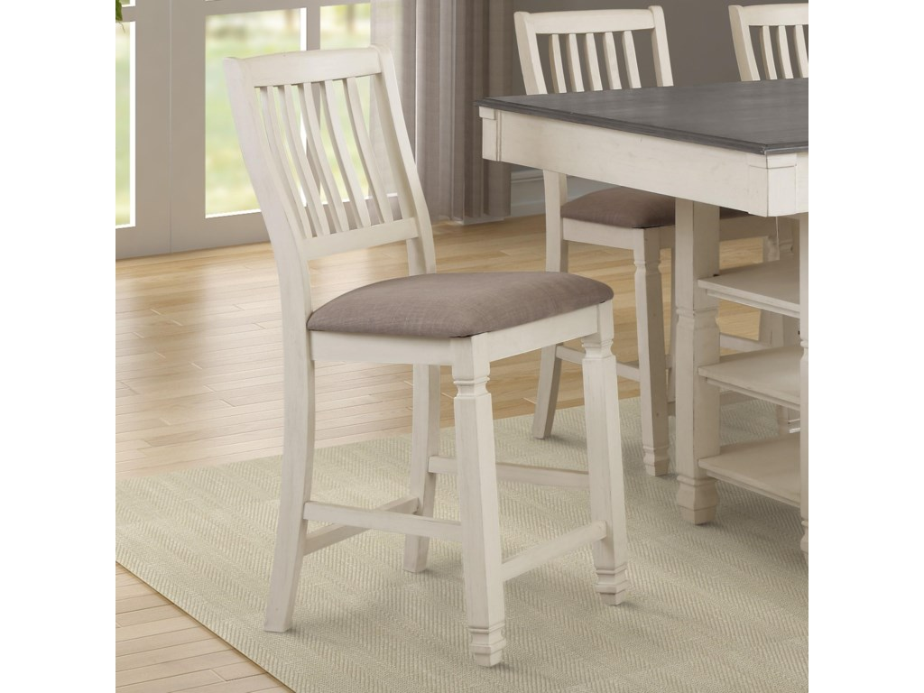 Lifestyle CraftonCounter Height Table with 4 Stools and Bench