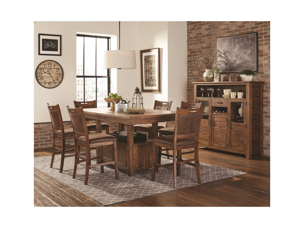Lifestyle JeffPub Table with 6 Pub Stools