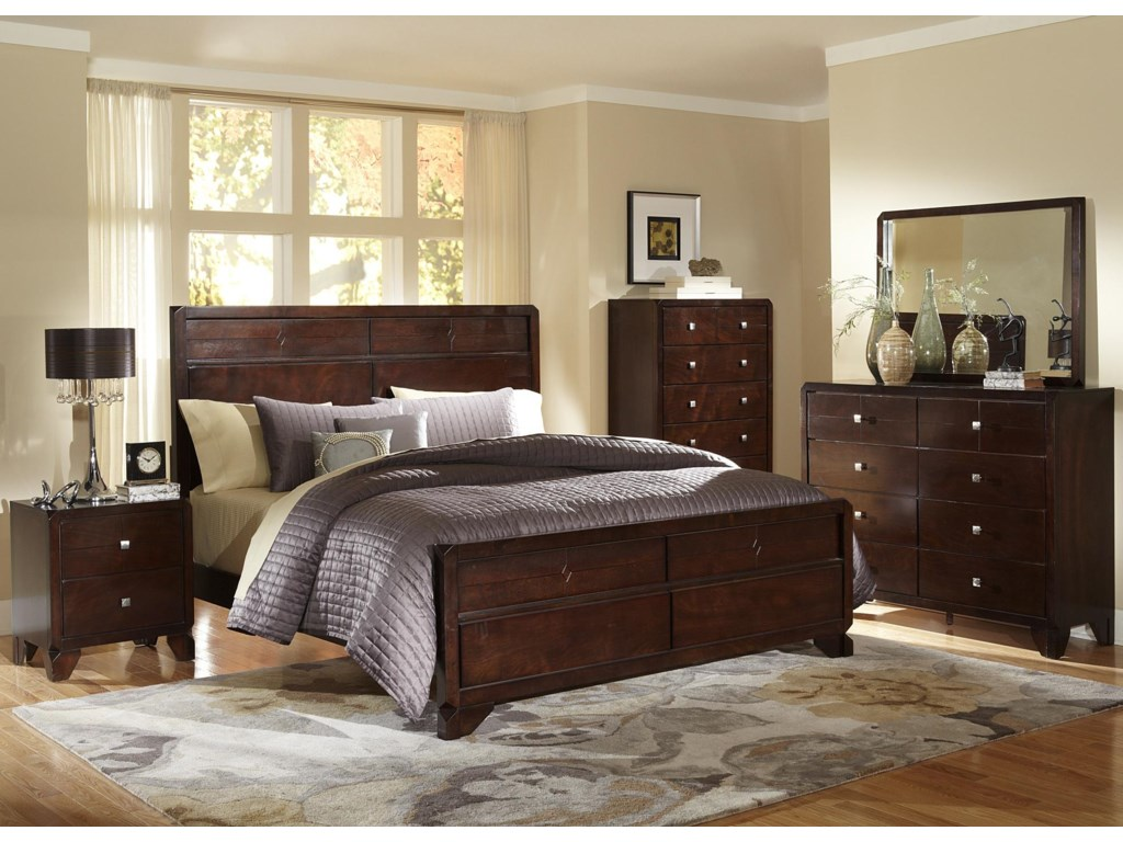Shown in Room Setting with Nightstand, Bed, Dresser and Mirror