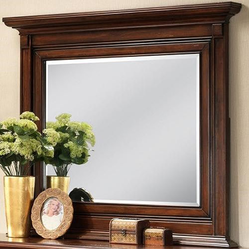 Lifestyle 3185A Landscape Mirror with Detailed Molding on Wood Frame